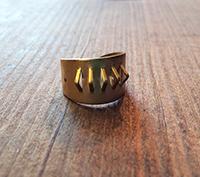 Pierced Solid Brass Ring Shank