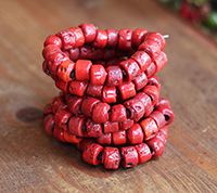 Rustic Sherpa Glass Beads - Coral