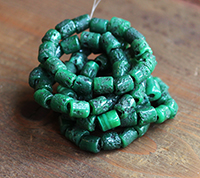 Rustic Sherpa Glass Beads - Malachite