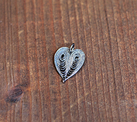 Vintage Cannetile Silver Heart