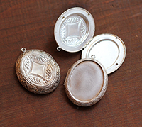 Sterling Clad Vintage Locket