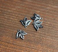 Vintage Cannetile Silver Single Leaf