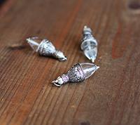 Silver Filigree Pendulum - Crystal