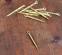 Cast Brass Spike, Small