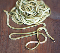 Vintage Brass Snake Chains