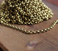Solid Brass Rolo Chain