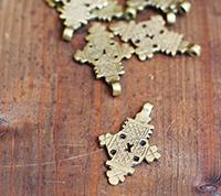 Solid Brass Ethiopian Cross
