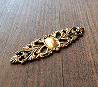 Solid Brass Ring Filigree
