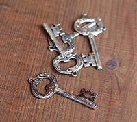 Sterling Plated Vintage Key