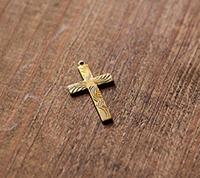 Swirl Brass Cross