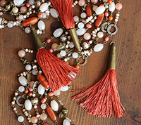 Brass Capped Tassel - Terracotta