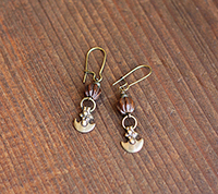 Thai Wood & Brass Earrings