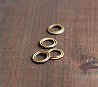 Twisted Brass Rings