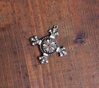 Victorian Cross Pendant - antique metal focal