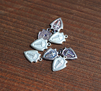 Vintage Shield Charms with Cross