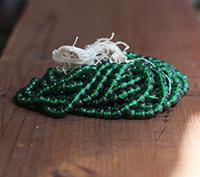 Vintage Cherry Brand Glass Beads - Opal Emerald