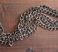 Vintage Brass Rope Edged Chain