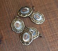 Vintage Abalone Cabachon Pendant