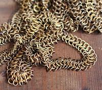 Vintage Brass Chain Maille