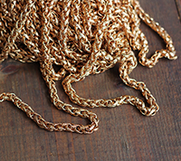 Vintage Patterned Wheat Chain