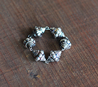 Vintage Sterling Plated Lucite Beads