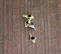 Vintage Swarovski Diamond Drop, Garnet