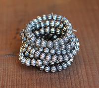 Vintage Sterling Clad Melon Beads