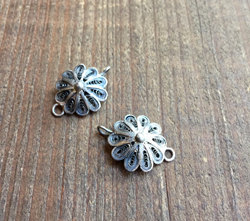 Vintage Sterling Filigree Links
