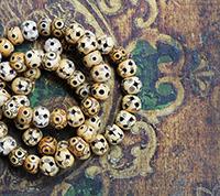 Vintage Carved Bone Beads