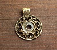 Cast Brass Pendant