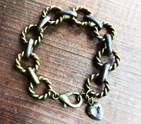 Heavy Ring and Link Bracelet
