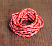 Coral Rice Beads