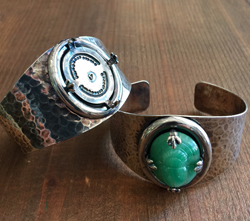 Hammered Cuff Bracelet Blank