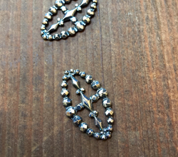 Antique Cut Steel Look Embellished in Aged Sterling