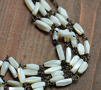 Faceted Vintage Mother of Pearl Chain