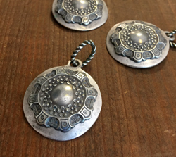 Vintage Layered Pendant in Silver