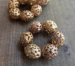 Large Vintage Filigree Beads