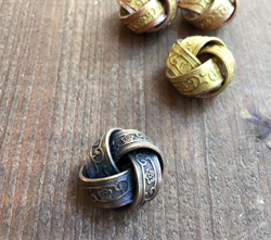 Antique Brass Love Knots