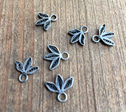 Petite Vintage Sterling Filigree Drops