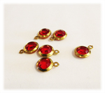 Vintage Round Ruby Lucite Drops