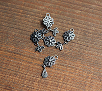 Vintage Cannetile Silver Articulated Flower