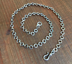 Vintage Silver Rondo Chain with Hook Closure