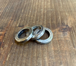Small Chased Ring - Aged Sterling Finish