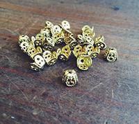 Squared Brass Filigree Caps