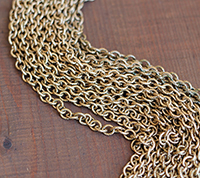 Vintage Brass Cable, rope pattern