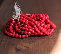 Vintage Cherry Brand Glass Beads - Opaque Red