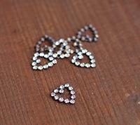 Vintage Rhinestone Heart Pendants