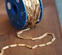 Vintage Solid Brass Bar Chain